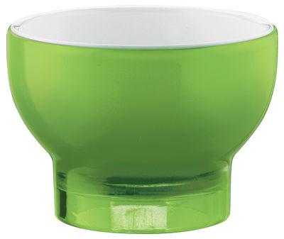 Arts de la table - Saladiers, coupes et bols - Coupe à glace Vintage / Ø 11 cm - Guzzini - Blanc - Vert - Plastique SAN
