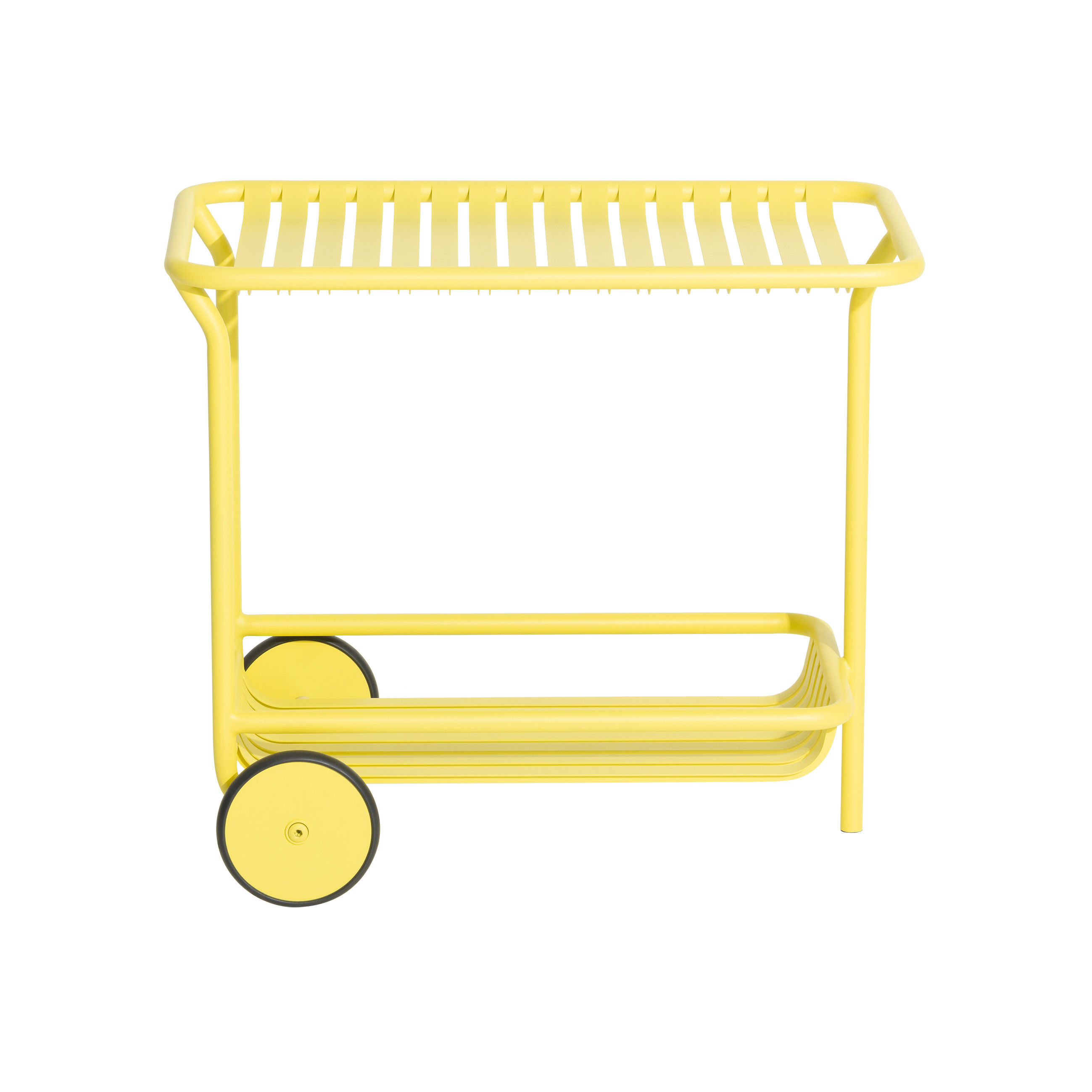 Furniture - Miscellaneous furniture - Week-End Dresser - / Aluminium - Casters by Petite Friture - Pale yellow - Powder coated epoxy aluminium