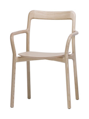 Mobilier - Chaises, fauteuils de salle à manger - Fauteuil empilable Branca / Bois - Mattiazzi - Frêne naturel - Frêne naturel