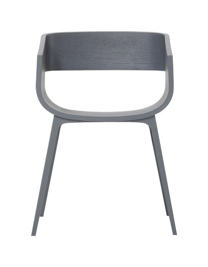 Mobilier - Chaises, fauteuils de salle à manger - Fauteuil Maritime / Bois - Casamania - Chêne teinté gris - Chêne massif, Laminé plaqué chêne