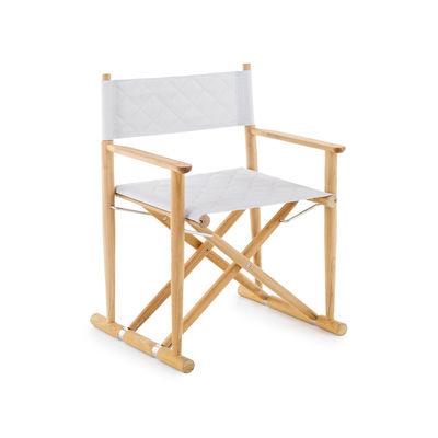 Mobilier - Chaises, fauteuils de salle à manger - Fauteuil Pevero / Teck (structure seule sans toile) - Unopiu - Structure fauteuil / Teck - Acier inoxydable, Teck