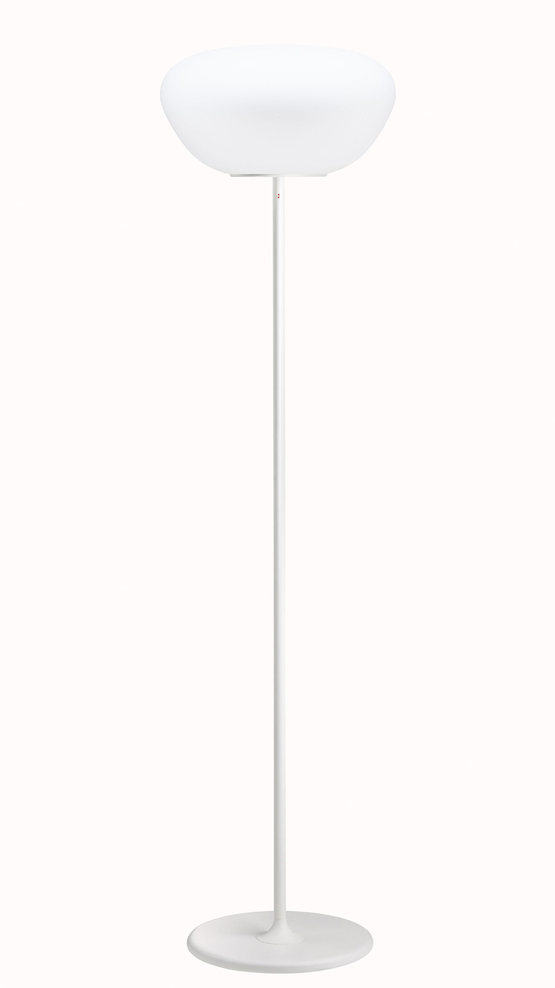 Lighting - Floor lamps - Poga Floor lamp - Ø 42 cm - H 155 cm by Fabbian - White - Glass