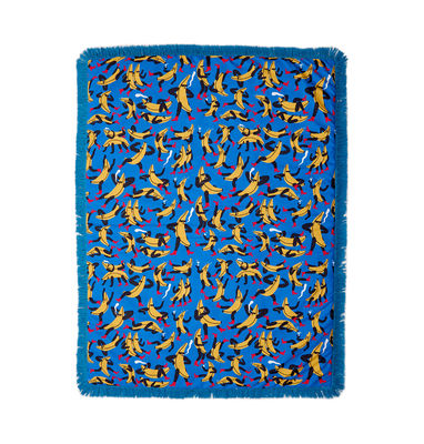Dekoration - Wohntextilien - Tapame Mucho Large - Banana Guys Gepolstertes Plaid / 180 x 140 cm - Sancal - Banana Guys / blau - Fibre synthétique, Kunstpelz, Polyesterfaser