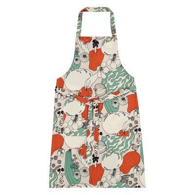 Cucina - Grembiuli e Strofinacci - Grembiule Vihannesmaa - / Cotone di Marimekko - Vihannesmaa / Cotone bianco, rosso, verde - Cotone