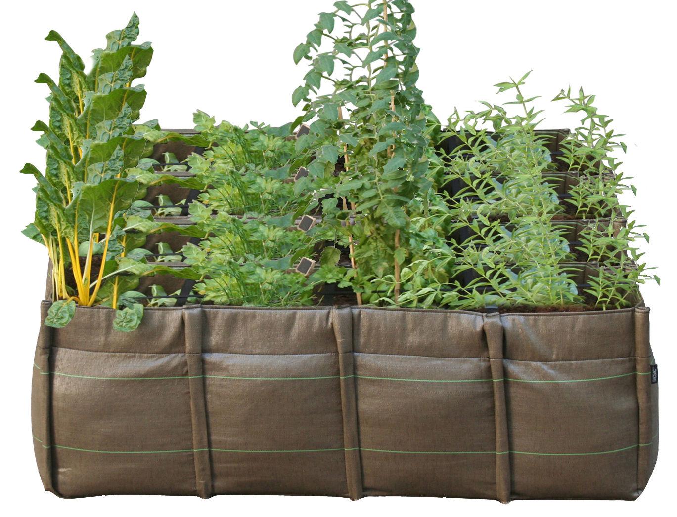 Outdoor - Pots et plantes - Jardinière BacSquare Geotextile / Outdoor - 550 L - Bacsac - 16 carrés / 550L - Marron - Toile géotextile