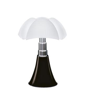 Illuminazione - Lampade da tavolo - Lampada da tavolo Minipipistrello LED di Martinelli Luce - Marrone scuro - Acciaio galvanizzato, Alluminio laccato, Méthacrylate opalin