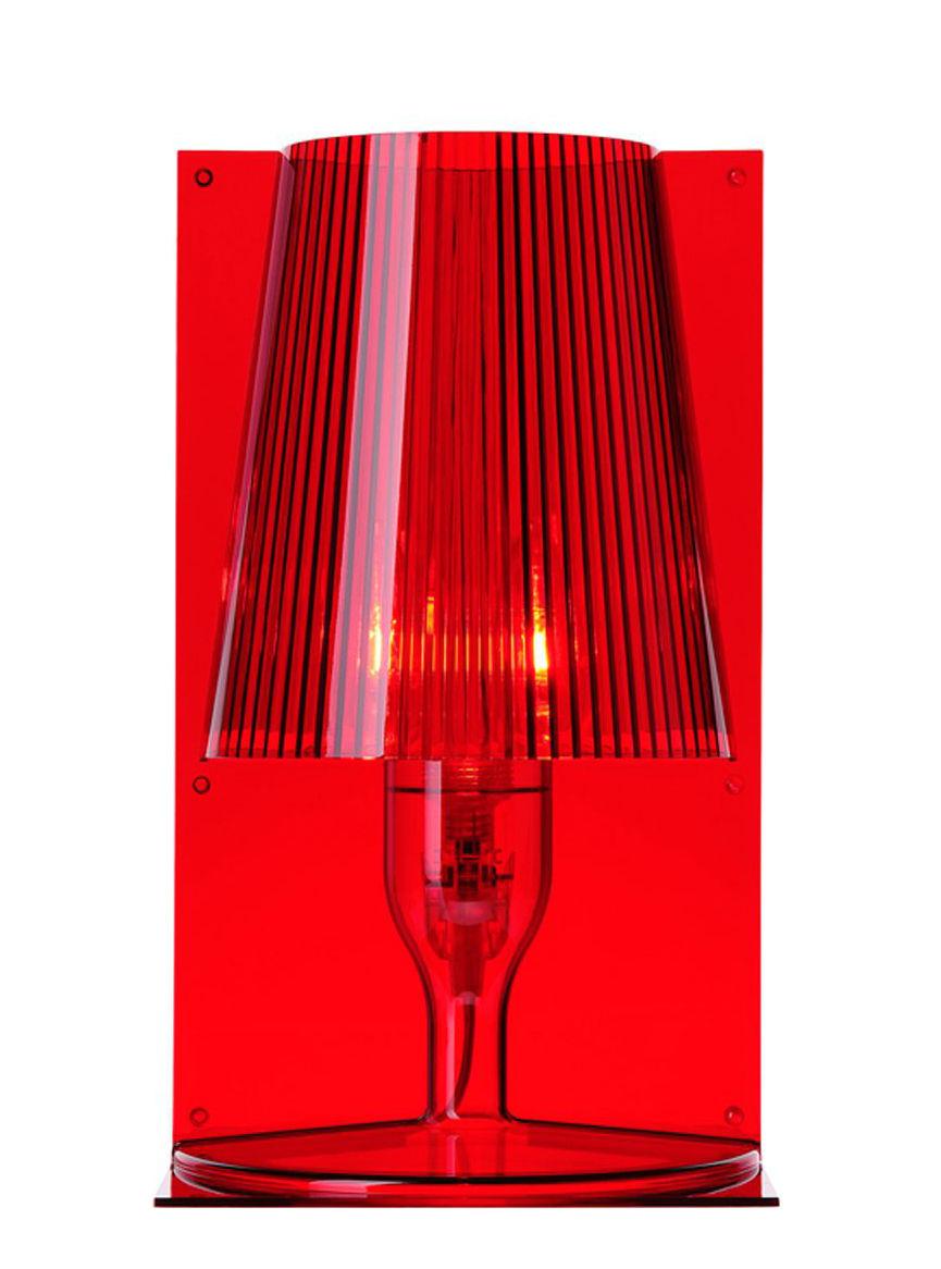 Illuminazione - Lampade da tavolo - Lampada da tavolo Take di Kartell - Rosso - policarbonato
