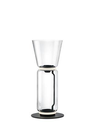 Lampe à poser Noctambule Cône n°1 / LED - Ø 36 x H 91 cm - Flos noir,transparent en verre