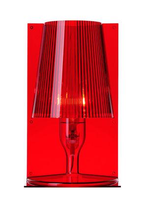 Lampe de table Take - Kartell rouge en matière plastique