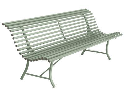 Outdoor - Panchine - Panca con schienale Louisiane - / L 200 cm - Metallo di Fermob - Cactus - Acier électrozingué