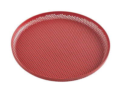 Tavola - Vassoi  - Piano/vassoio perforated - / Medium - Ø 26 cm di Hay - Rosso - Alluminio perforato