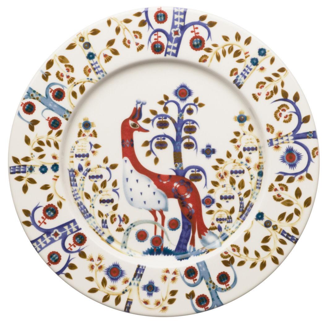 Tavola - Piatti  - Piatto da dessert Taika di Iittala - Fondo bianco - Ceramica