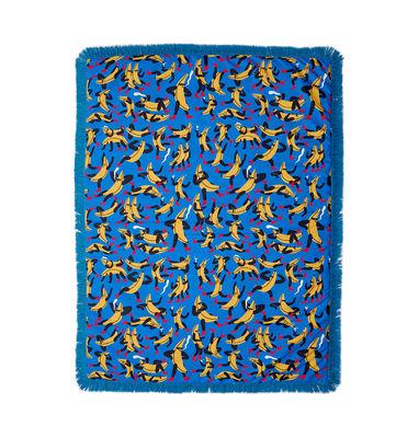 Dekoration - Wohntextilien - Tapame Mucho Large - Banana Guys Plaid rembourré / 180 x 140 cm - Sancal - Banana Guys / blau - Fausse fourrure, Fibre synthétique, Polyesterfaser