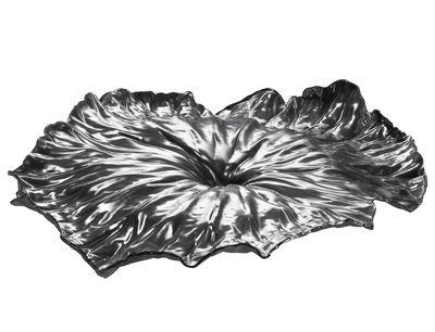 Plateau A lotus leaf / Centre de table - L 44,8 cm - Alessi métal brillant en métal