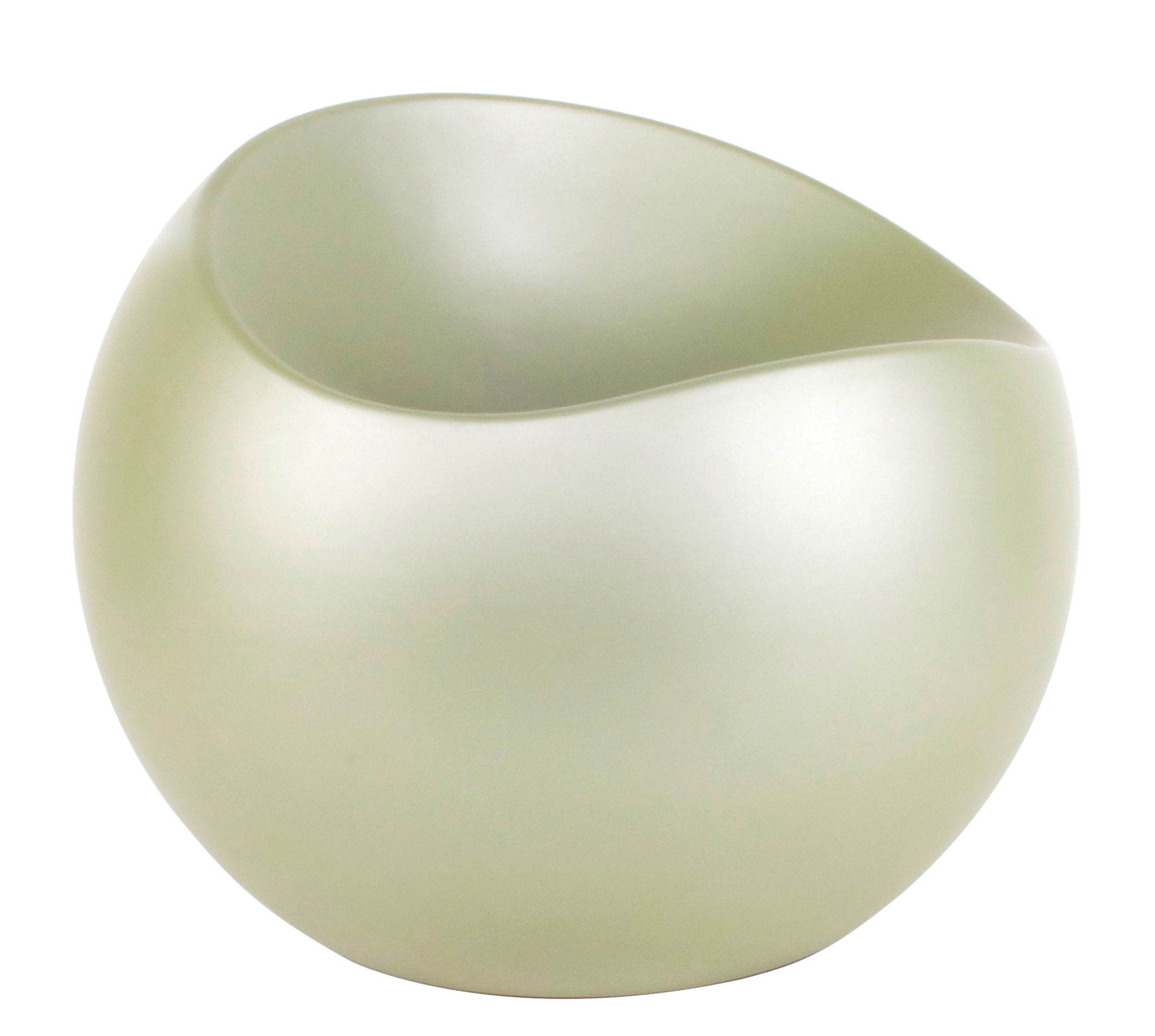 Furniture - Kids Furniture - Ball Chair Pouf by XL Boom - Matt emeraude - Recycled lacquered ABS