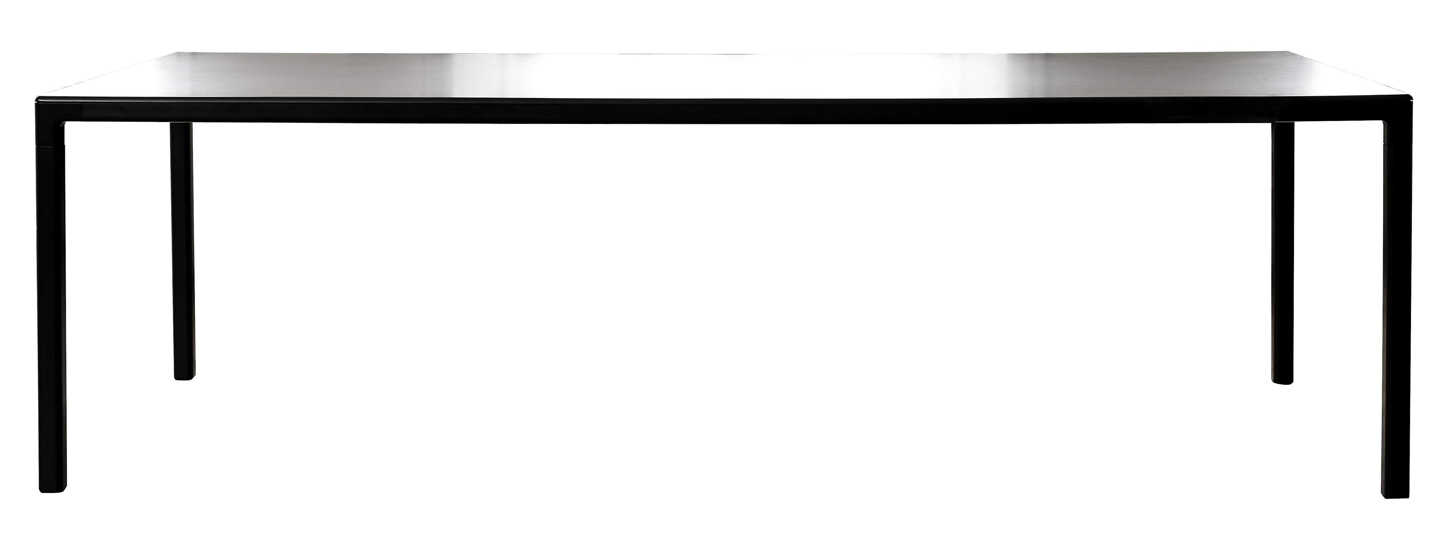 Möbel - Tische - T12 rechteckiger Tisch rechteckig - 160 x 80 cm - Hay - 160 x 80 cm - schwarz - bemaltes Aluminium, Linoleum