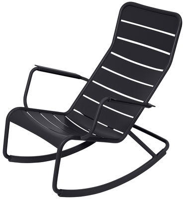 Life Style - Luxembourg Rocking chair by Fermob - Anthracite - Lacquered aluminium