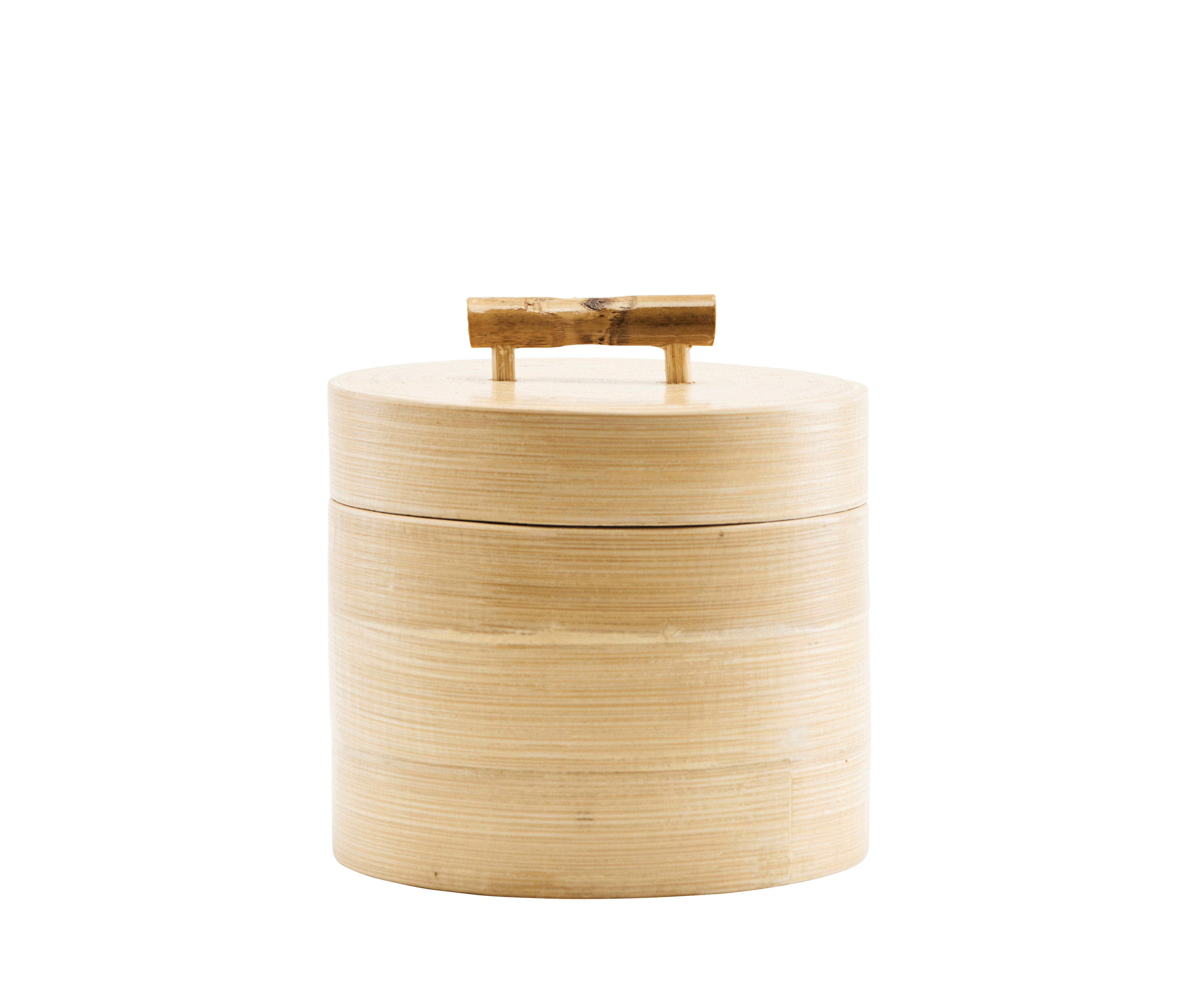 Cucina - Lattine, Pentole e Vasi - Scatola Bamboo - / Ø 12 x H 10 cm di House Doctor - Ø 12 x H 10 cm - Bambù