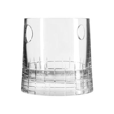 Arts de la table - Bar, vin, apéritif - Seau à glaçons Graphik / Cristal soufflé bouche - Christofle - Transparent - Cristal soufflé bouche