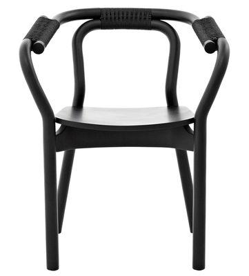 Möbel - Stühle  - Knot Sessel - Normann Copenhagen - Schwarz / schwarz - Esche, Fibre végétale