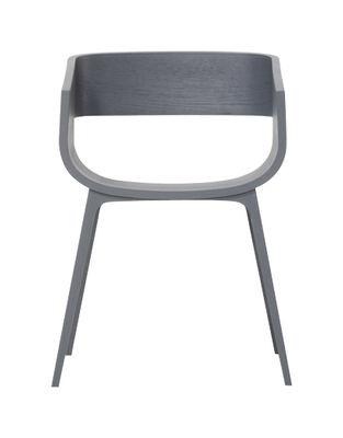 Möbel - Stühle  - Maritime Sessel - Casamania - Eiche, grau gefärbt - Laminé plaqué chêne, massive Eiche