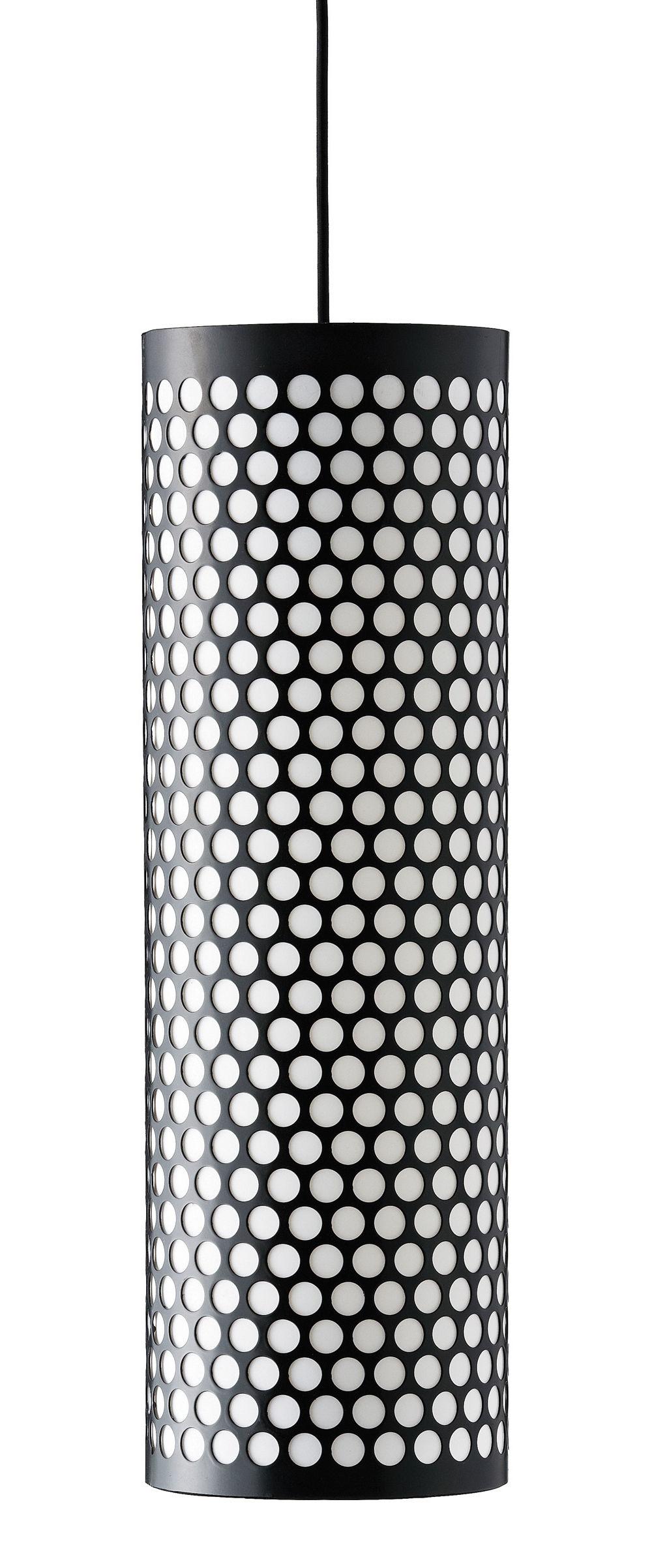 Illuminazione - Lampadari - Sospensione Pedrera ANA - Ø 20 x H 63 cm di Gubi - Nero - Metallo, Polietilene