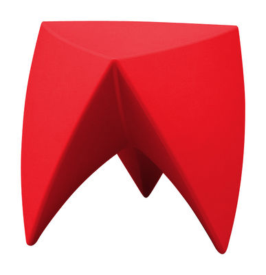 Furniture - Coffee Tables - Mr. LEM Stackable stool - / Plastique by MyYour - Rouge - roto-moulded polyhene