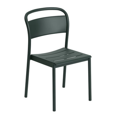Furniture - Chairs - Linear Stacking chair - / Steel by Muuto - Dark green - Steel