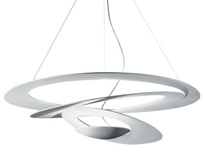 Luminaire - Suspension Pirce LED / Ø 97 cm - Artemide - Blanc - Aluminium verni