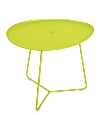 Table basse Cocotte / L 55 x H 43,5 cm - Plateau amovible - Fermob verveine en métal