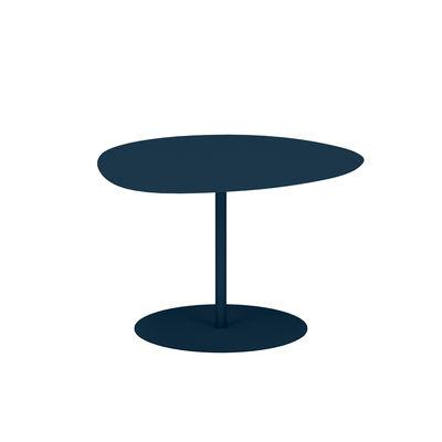 Table basse Galet n°1 INDOOR / 59 x 63 x H 40 cm - Matière Grise bleu en métal