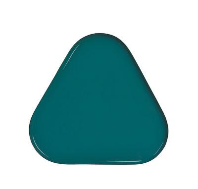 Tischkultur - Tabletts - Metal Triangle Tablett / 25 x 23 cm - & klevering - Dreieckig / grün - Metall