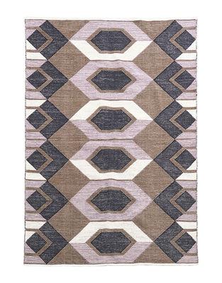 Tappeto Art - / 160 x 230 cm - Cotone di House Doctor - Rosa,Nero,Beige - Tessuto