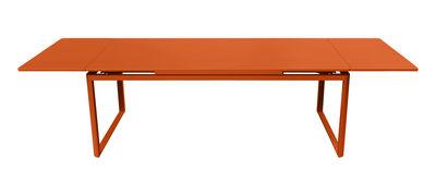 Outdoor - Tavoli  - Tavolo con prolunga Biarritz - allungabile - L 200 a 300 cm di Fermob - Carota - Acciaio laccato, Alluminio laccato