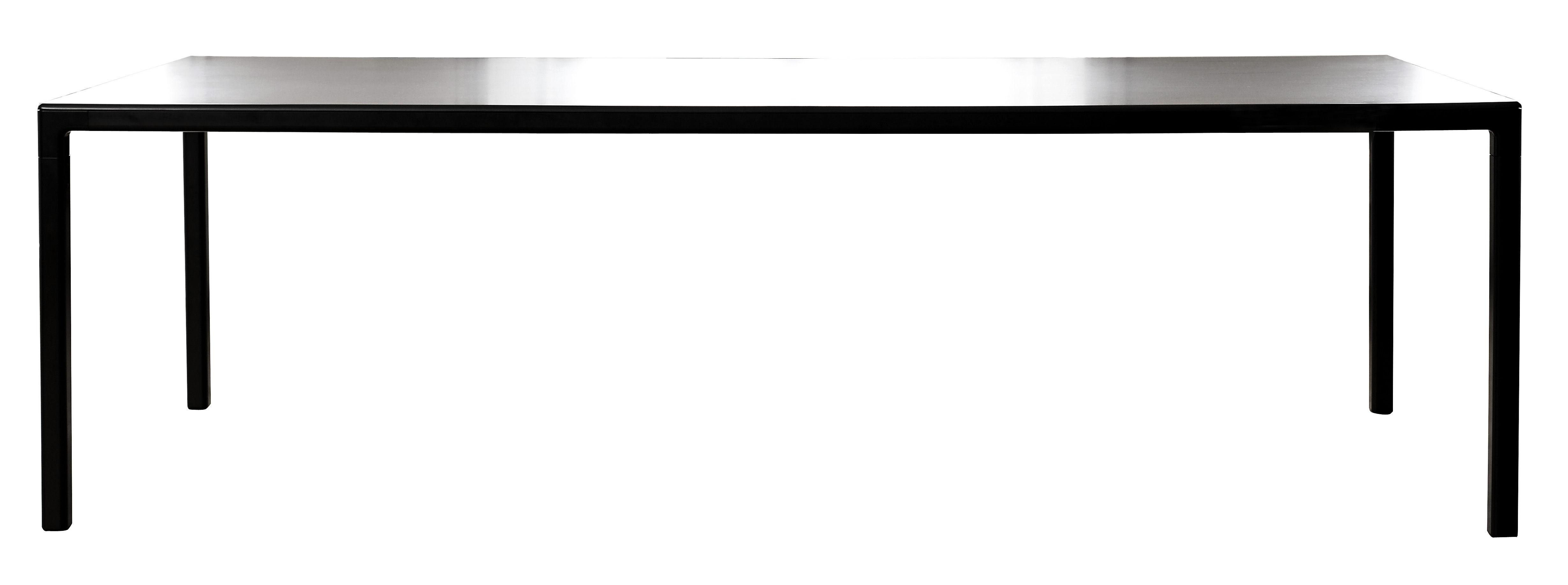 Möbel - Tische - T12 Tisch rechteckig - 160 x 80 cm - Hay - 160 x 80 cm - schwarz - bemaltes Aluminium, Linoleum