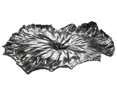 Tableware - Serving Plates - A lotus leaf Tray - / Centrepiece - L 44,8 cm by Alessi - Polished stainless steel - Polished stainless steel