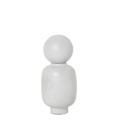 Déco - Vases - Vase Muses - Talia / Ø 13 x H 28 cm - Ferm Living - Talia / Blanc - Grès émaillé