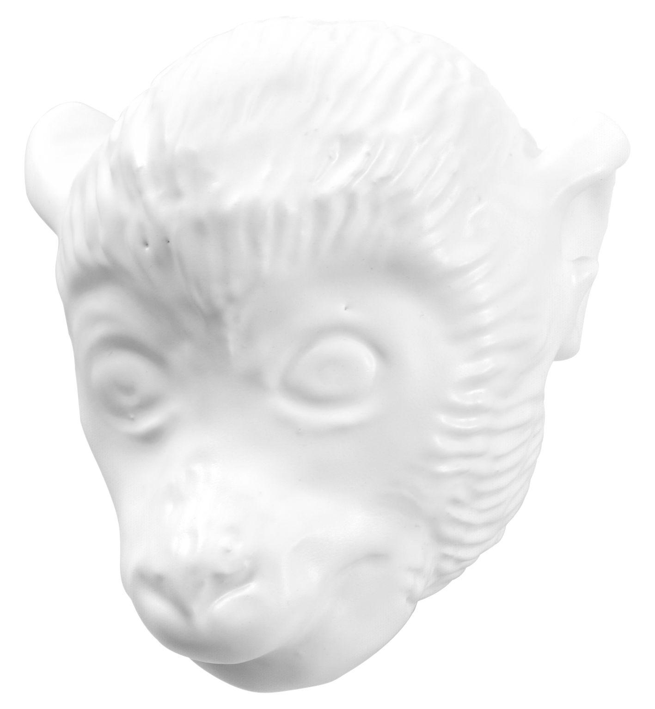 Möbel - Garderoben und Kleiderhaken - Monkey Wandhaken - Domestic - Weiß / Affe - Keramik