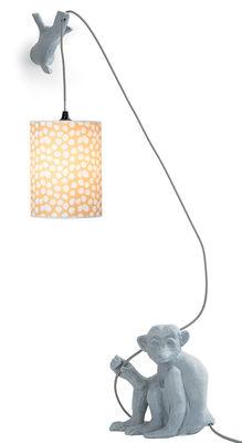 Leuchten - Tischleuchten - Joli cœur Wandleuchte mit Stromkabel / mit Ast - Domestic - Grau - emaillierte Keramik
