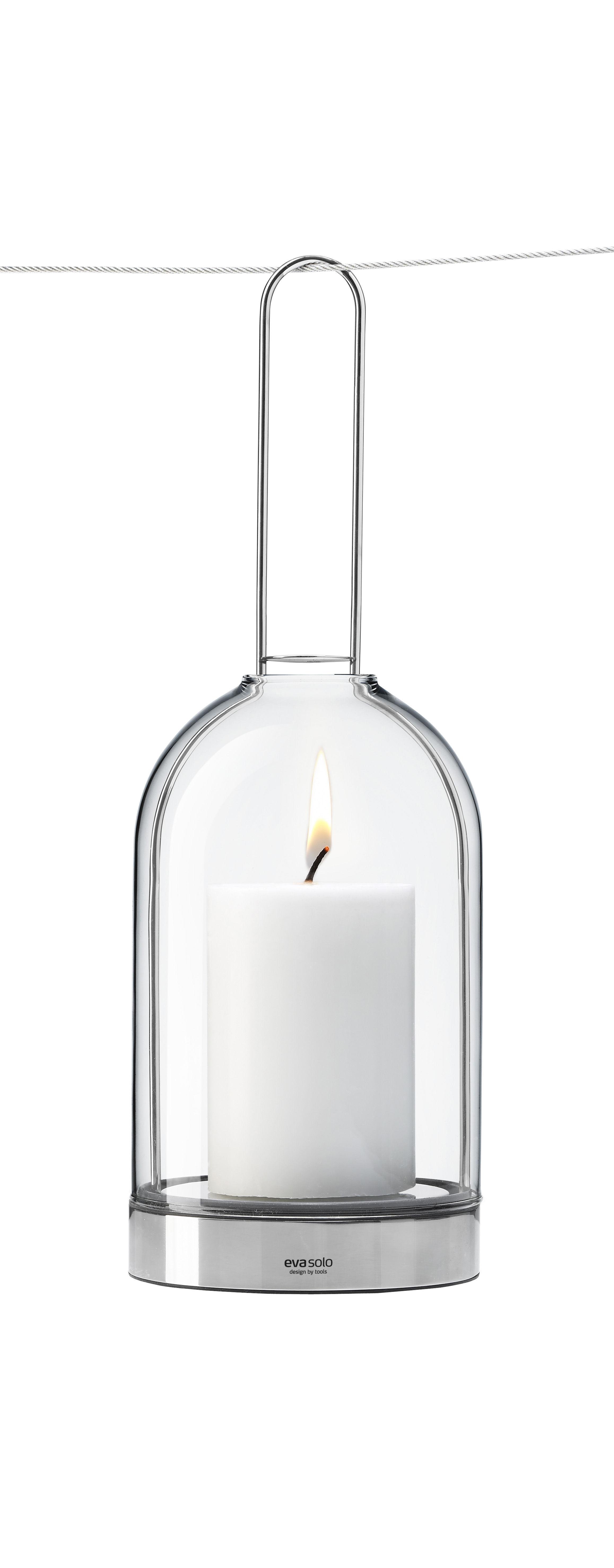 Dekoration - Kerzen, Kerzenleuchter und Windlichter - Hurricane Windlicht zum Aufhängen - Eva Solo - Zum Aufhängen - Glas und Stahl - Glas, rostfreier Stahl
