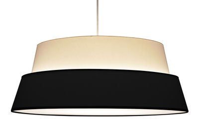 Abat-jour Photo pour lampadaire Nuala - Objekto blanc,noir en tissu