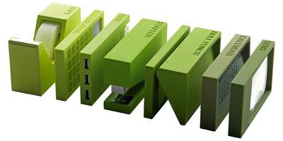 Déco - Accessoires bureau - Accessoire de bureau Buro / Set 7 pièces - Lexon - Vert - ABS