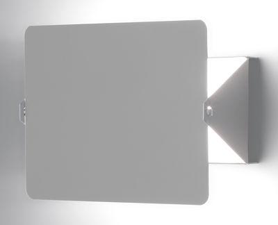 Illuminazione - Lampade da parete - Applique - con elemento girevole by Charlotte Perriand - Riedizione del 1962 di Nemo - Bianco / Placca girevole ghisa - alluminio verniciato, metallo verniciato