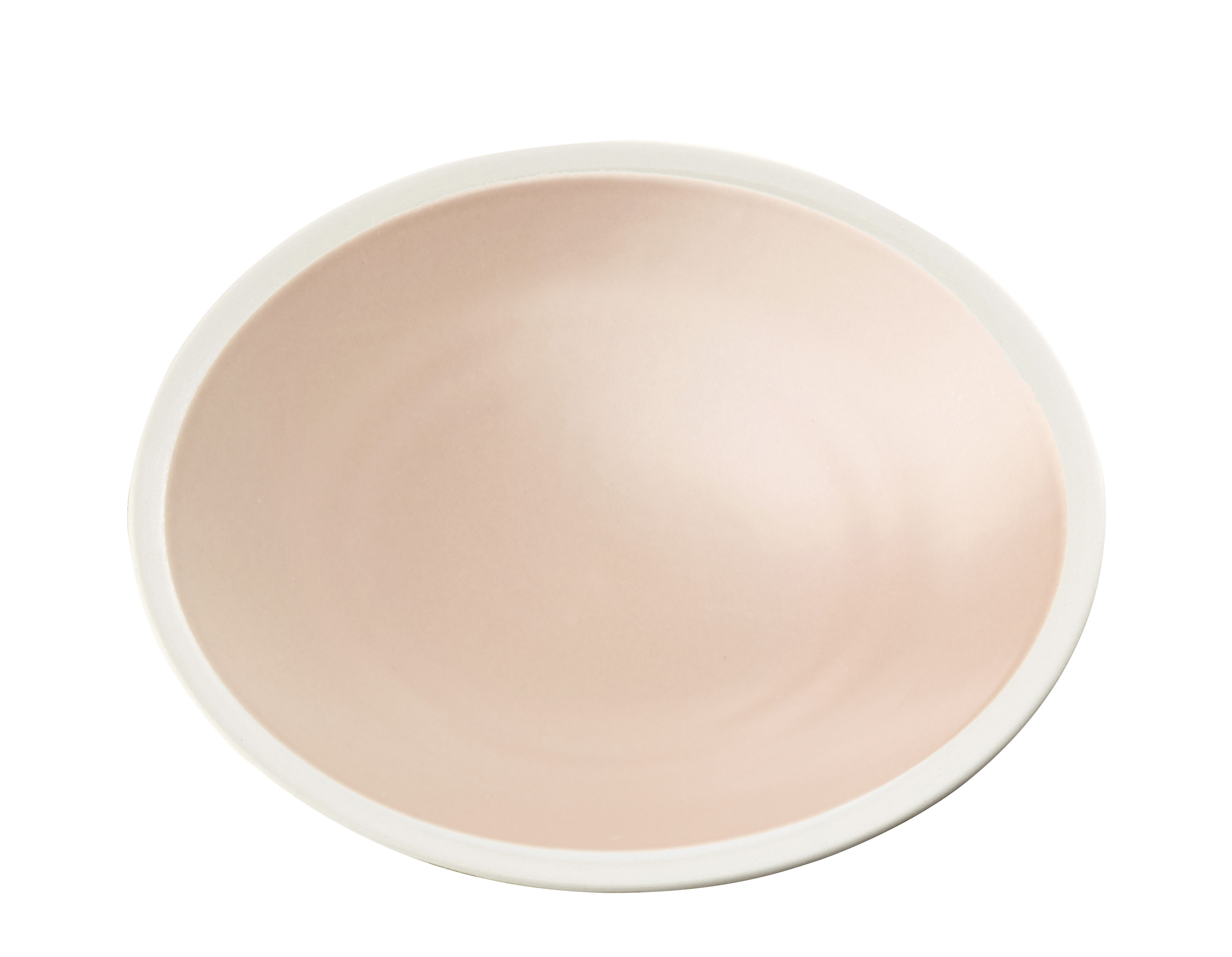Arts de la table - Assiettes - Assiette à dessert Sicilia / Ø 20 cm - Maison Sarah Lavoine - Baby rose / Blanc - Grès peint et émaillé