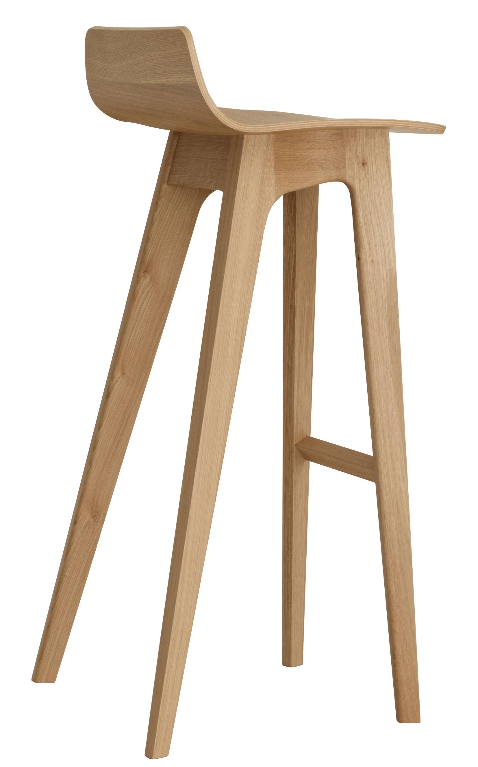 Furniture - Bar Stools - Morph Bar stool - Wood - H 80 cm by Zeitraum - Oak - Solid oak