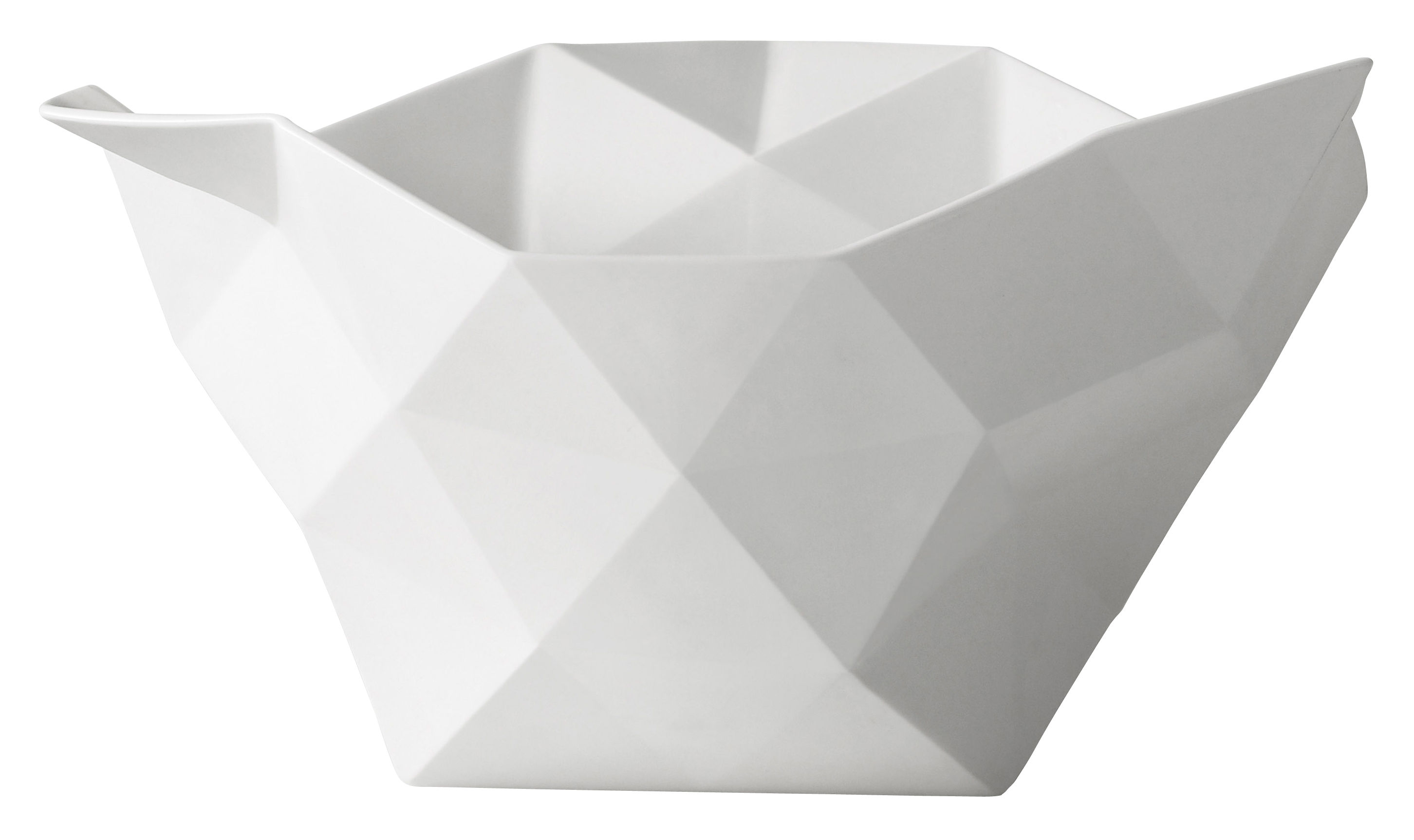 Tableware - Bowls - Crushed Bowl - Large by Muuto - White - Large - Bone china