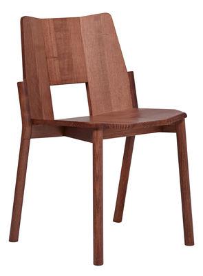 Chaise empilable Tronco / Bois - Mattiazzi noyer en bois