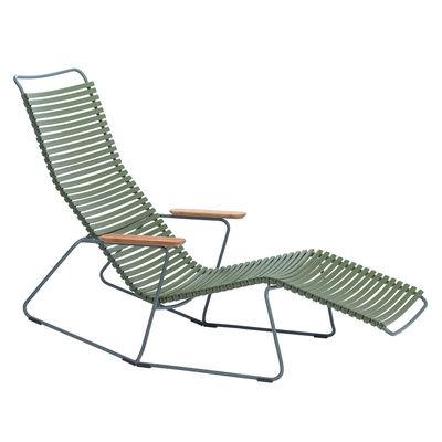 Chaise longue Click / 2 positions - Houe vert en matière plastique
