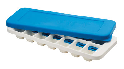 Tableware - Wine Accessories - QuickSnap Plus Ice-cube tray by Joseph Joseph - White,Blue - Polypropylene, Silicone