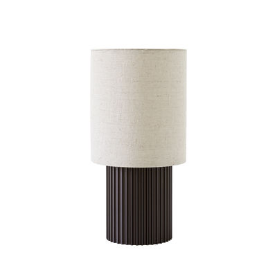 Illuminazione - Lampade da tavolo - Lampada senza fili Manhattan SC52 - / Metallo e tessuto di &tradition - Bronzo / Tessuto beige - alluminio estruso, Tessuto